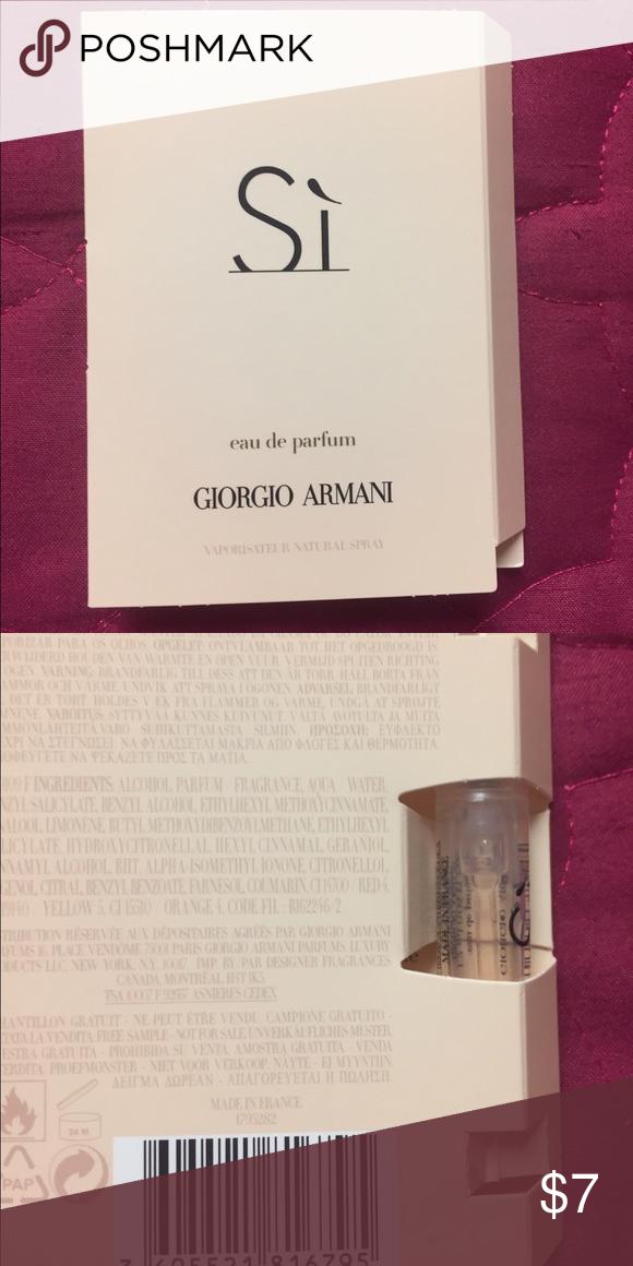 Si Giorgio Armani Sample Si Giorgio Armani Sample New Sealed