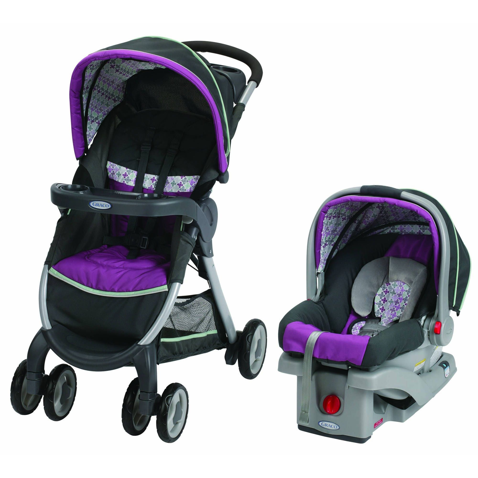 Graco FastAction Fold Click Connect Travel System, Car