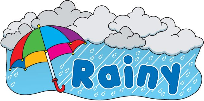 Rainy Clipart Weather Weather Theme Weather Clipart Teaching Themes