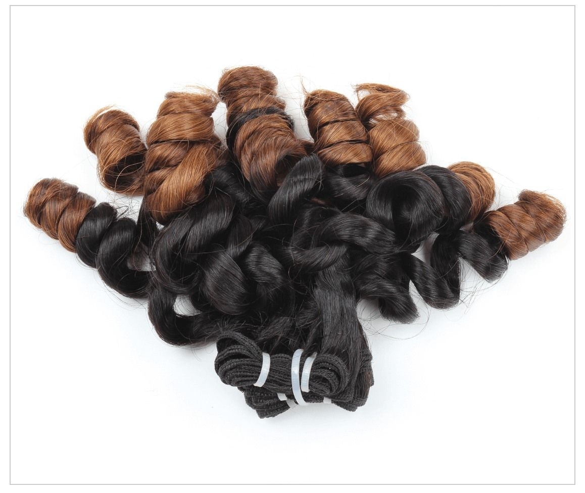Mink Hair Ombre Bundles Funmi Hair Straight To Tight Loose Wave