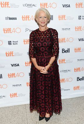 """2015 TIFF - """"Trumbo"""" Premiere Actress Helen Mirren attends the premiere for """"Trumbo"""" on day 3 of the Toronto International Film Festival at the Elgin Theatre on Saturday, Sept. 12, 2015, in Toronto. (Photo by Evan Agostini/Invision/AP)"""