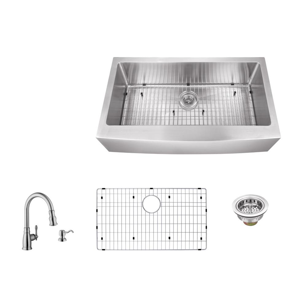 Ipt Sink Company Apron Front 33 In 16 Gauge Stainless Steel