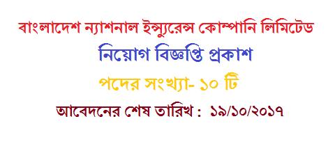 Jobs Circular Of Bangladesh National Insurance Company Limited