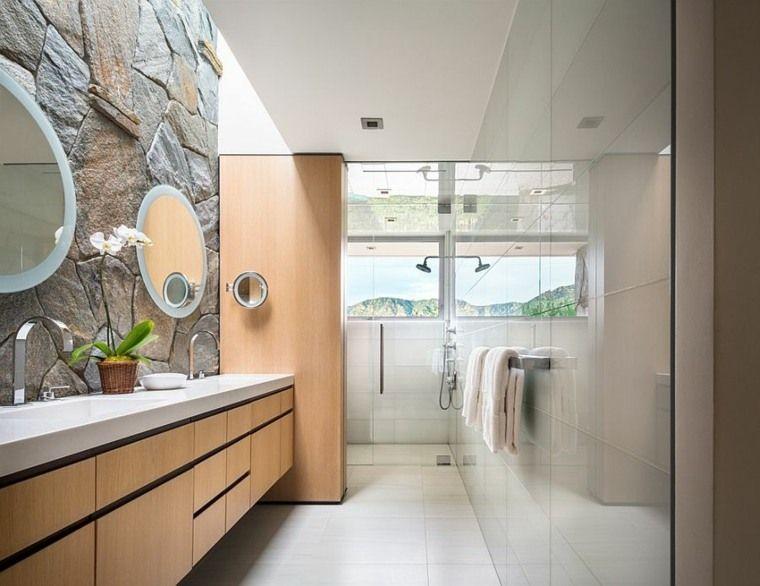 Parement pierre salle de bain  35 exemples magnifiques Parement