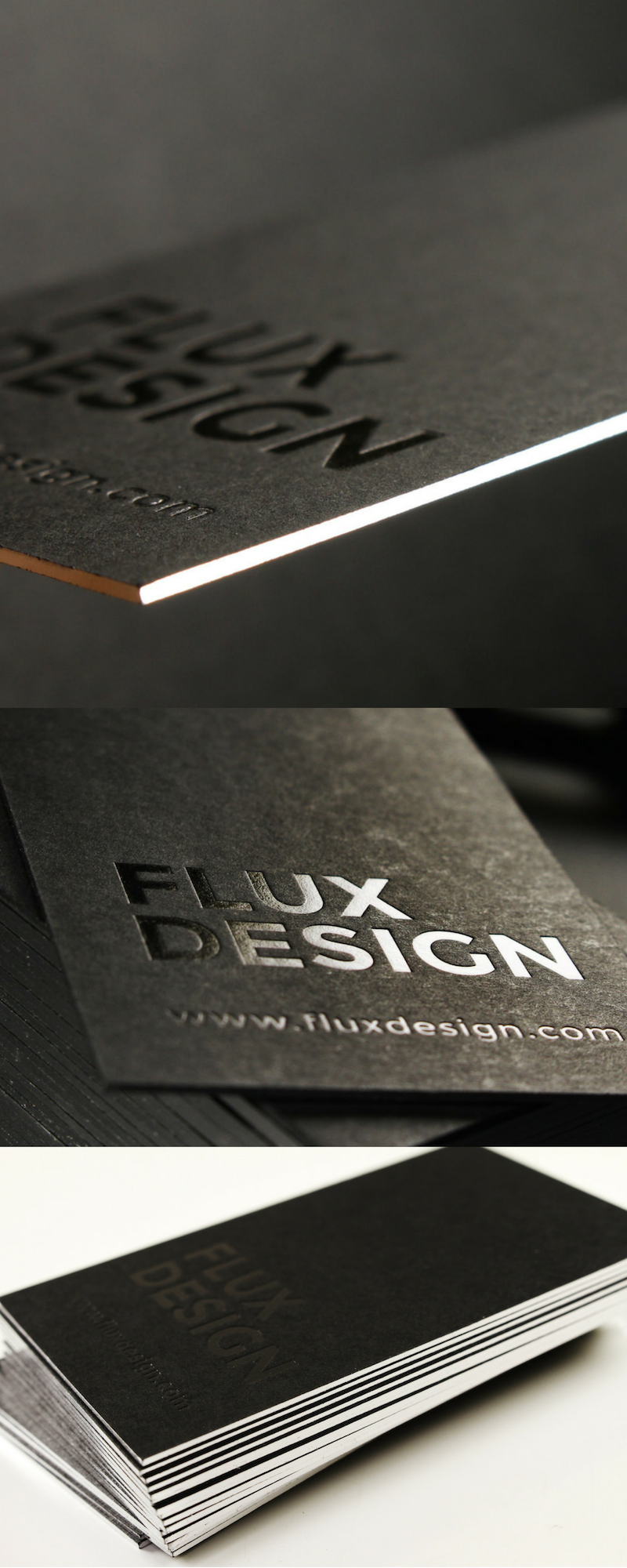 Extra Thick Luxury Business Cards Featuring Foiled Edging Luxury Business Cards Thick Business Cards Luxe Business Cards