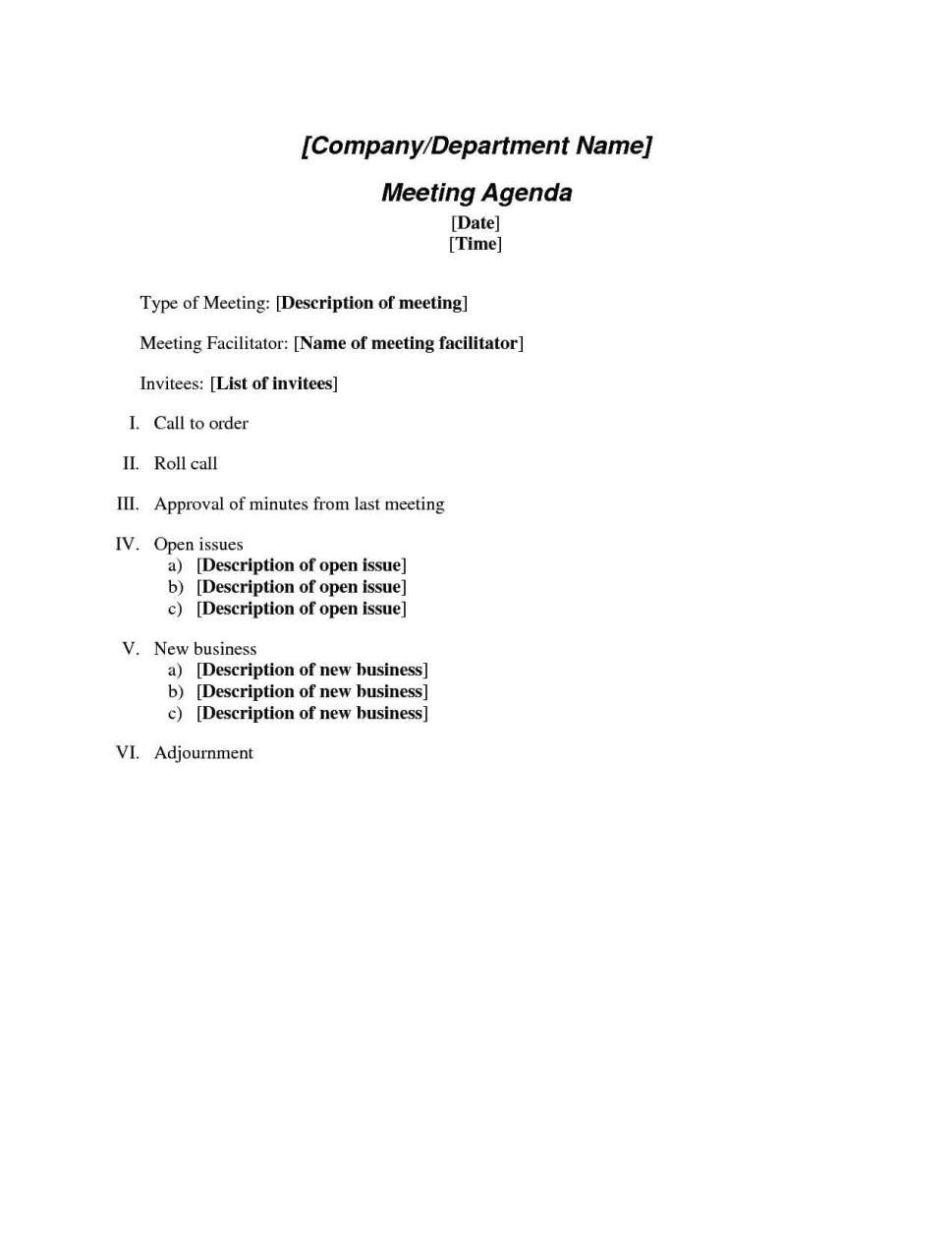 Agenda Template For Word Masir Free Meeting Microsoft Sample