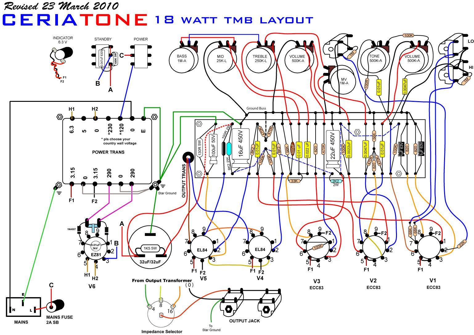 marshall layout 18watttmb guitar amps in 2019 valve. Black Bedroom Furniture Sets. Home Design Ideas