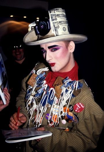 Boy George - Such a fabulous outfit. I wish we could bring Leigh back :-(