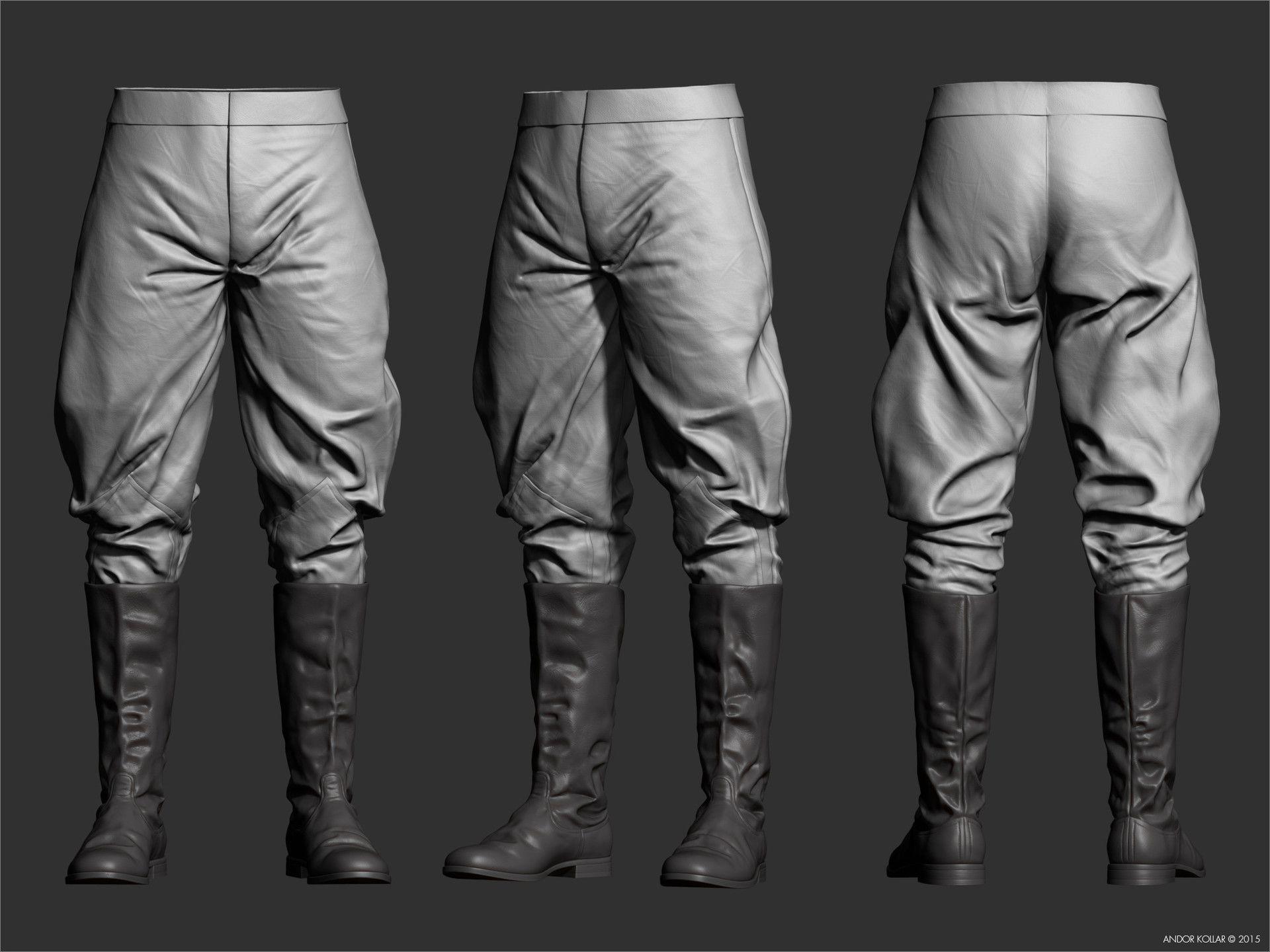 Soviet Officer 3D Breakdowns by Andor Kollar – zbrushtuts | Cloth ...