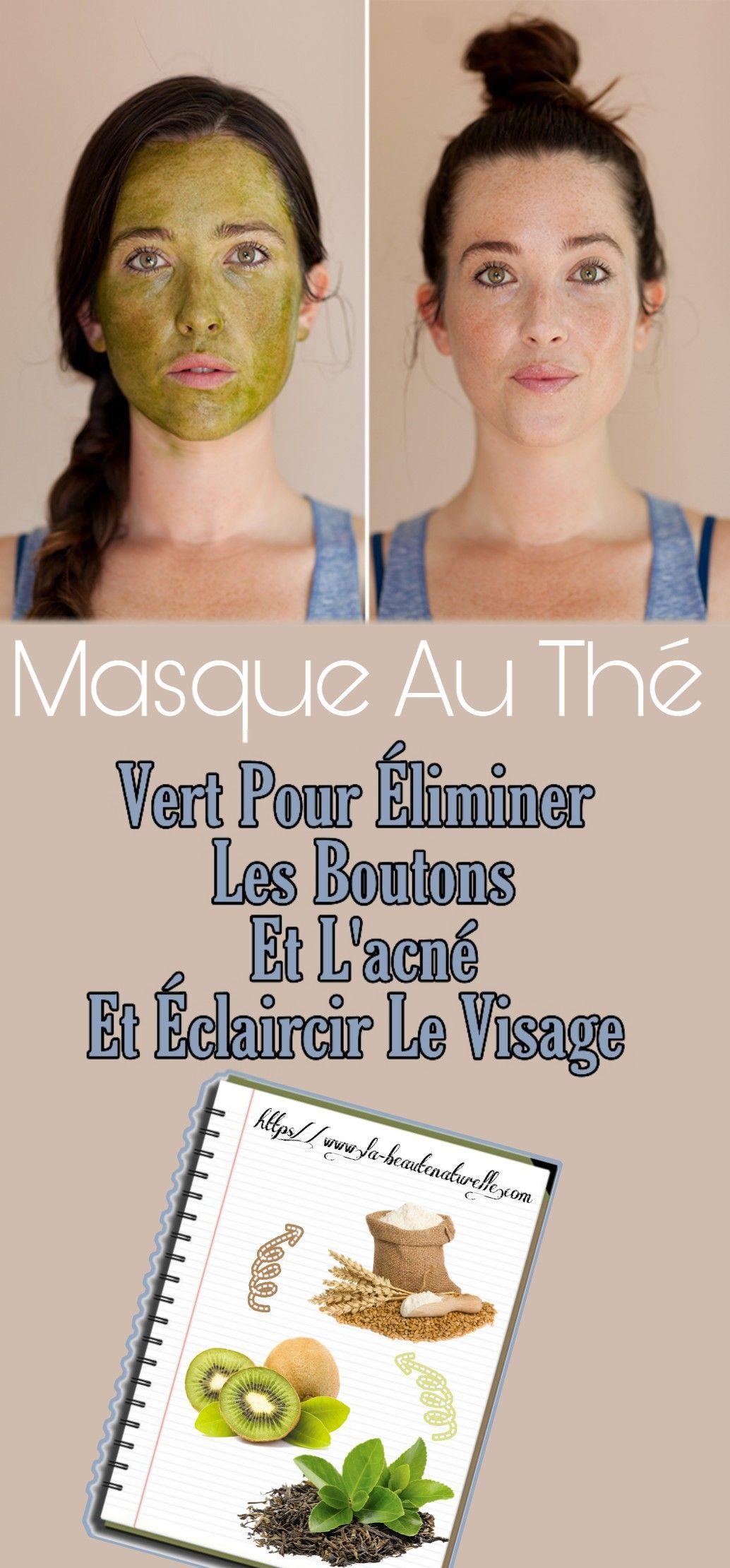 Masque au thé vert pour éliminer les boutons et l'acné et éclaircir le visage   Homemade skin ...