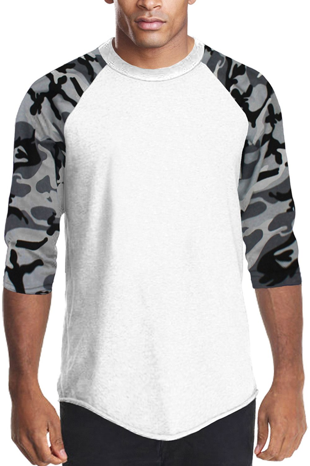 2585b1c5 Raglan Sleeve Baseball T-shirt Camo Mens Top Sports – Pro 5 Apparel