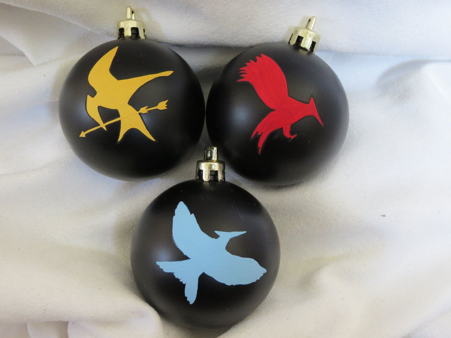 hunger games ornament mocking jay pin inspired by TotallyObsessed, $17.00