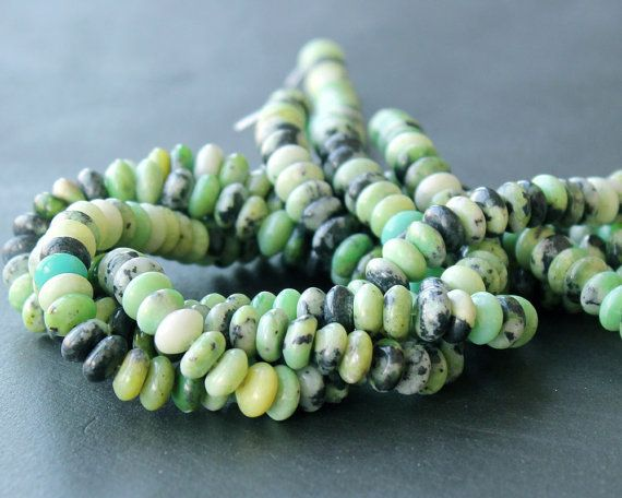 Chinese Chrysophrase 8mm Rondelle Beads FULL by SweetOliveSupplies, $4.00