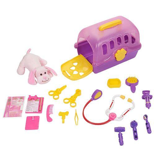 Toys R Us Plush Sammie Veterinarian Kit Pink Gund Toys Toys Pet Toys