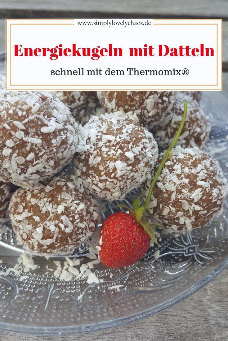 Energiekugeln mit Datteln und Nüssen.Der gesunde Snack für zwischendurch. Reze… – Backen mit dem Thermomix / Gruppenboard