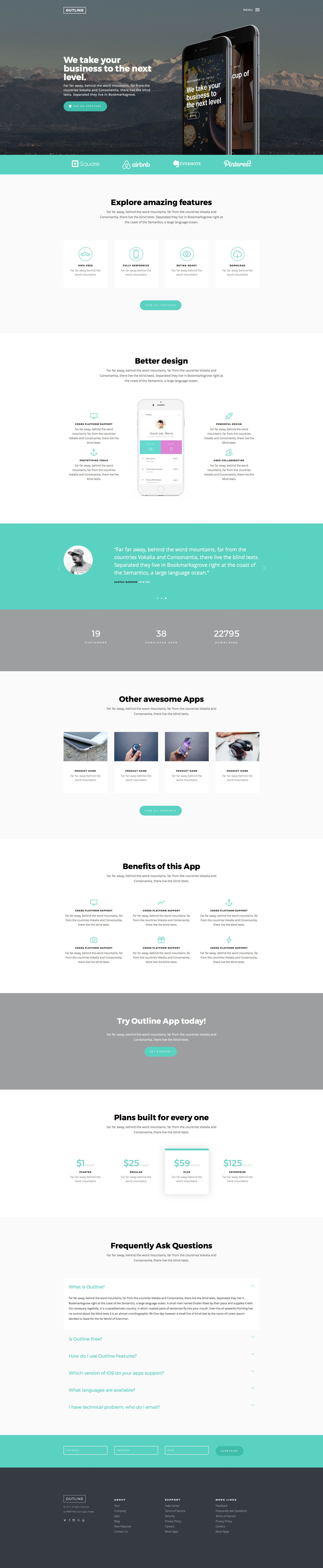 Outline is a free responsive html5 application website template made outline is a free responsive html5 application website template made with bootstrap it is a ready to use one page template perfect for app landing pages maxwellsz