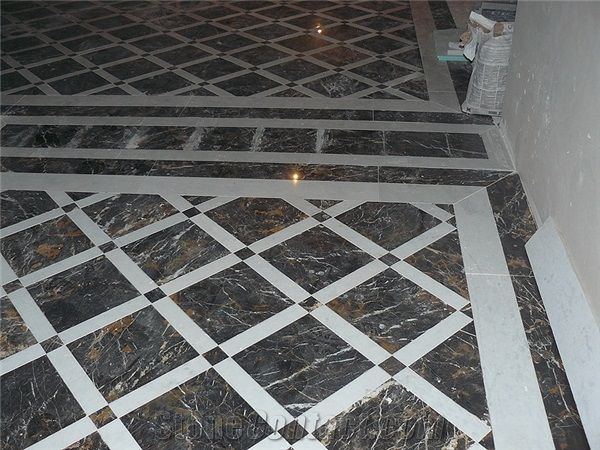 Black Gold Marble Floor Pattern P201659b Jpg 600 450 Marble Floor Pattern White Marble Floor Marble Flooring Design
