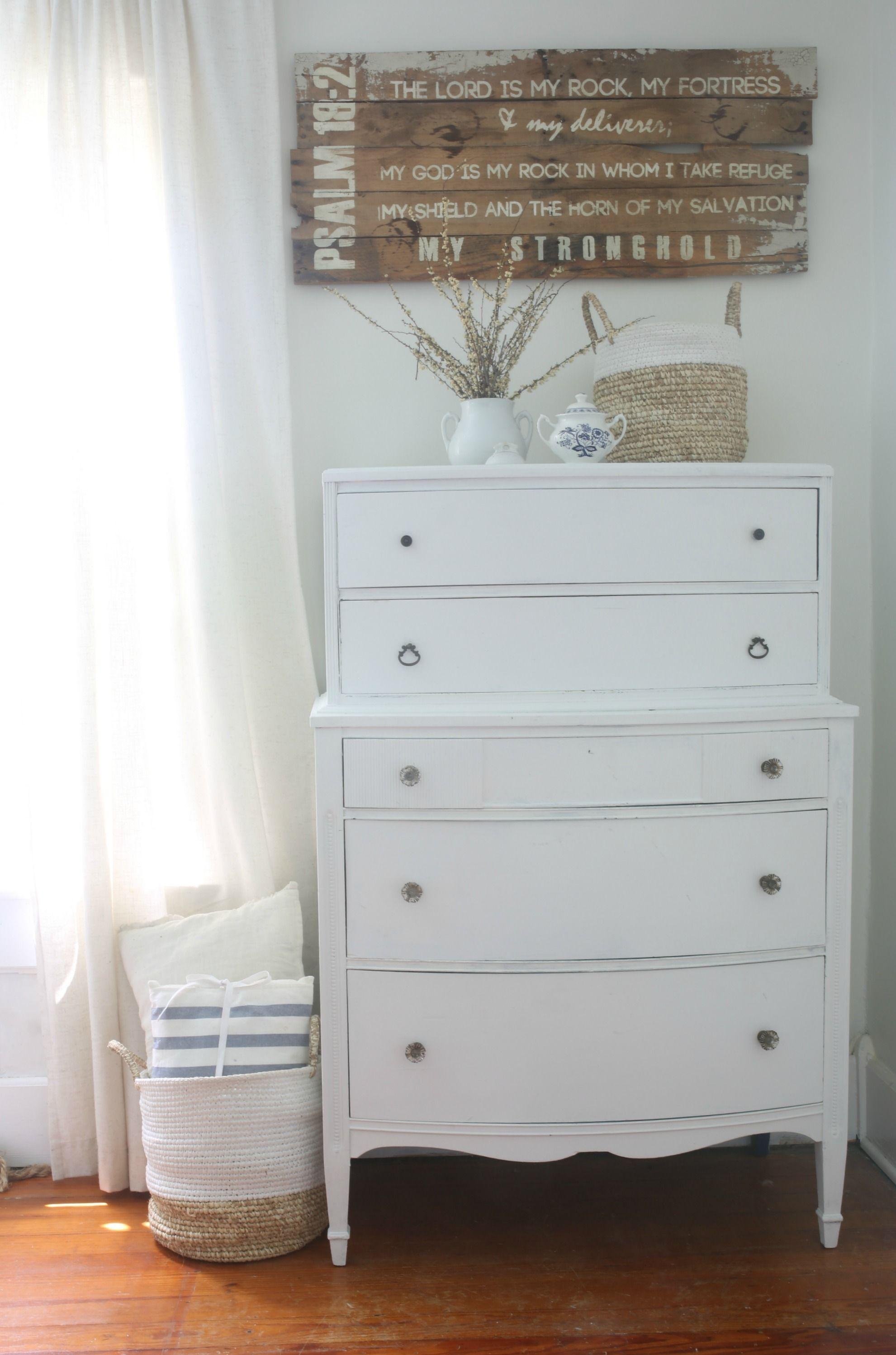 Linen White Chalk Paint Dresser Makeover Chalk paint