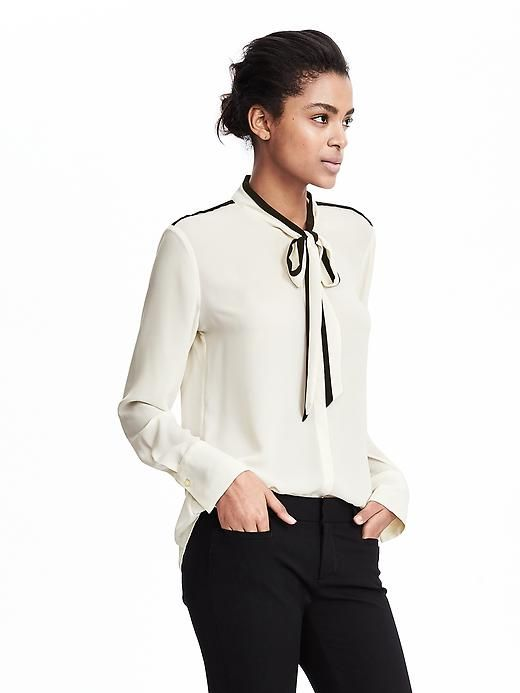 c71fb1bd4a6a Bow tie blouse - work and going out. Banana Republic