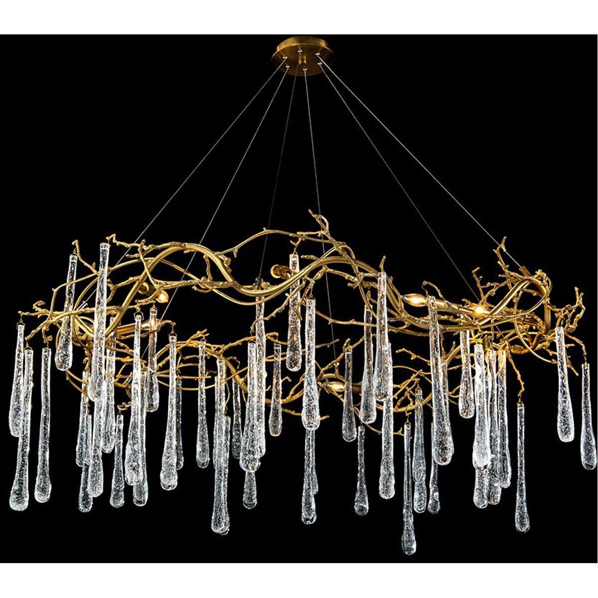 john richard lighting. john richard brass and glass teardrop eightlight chandelier lighting l