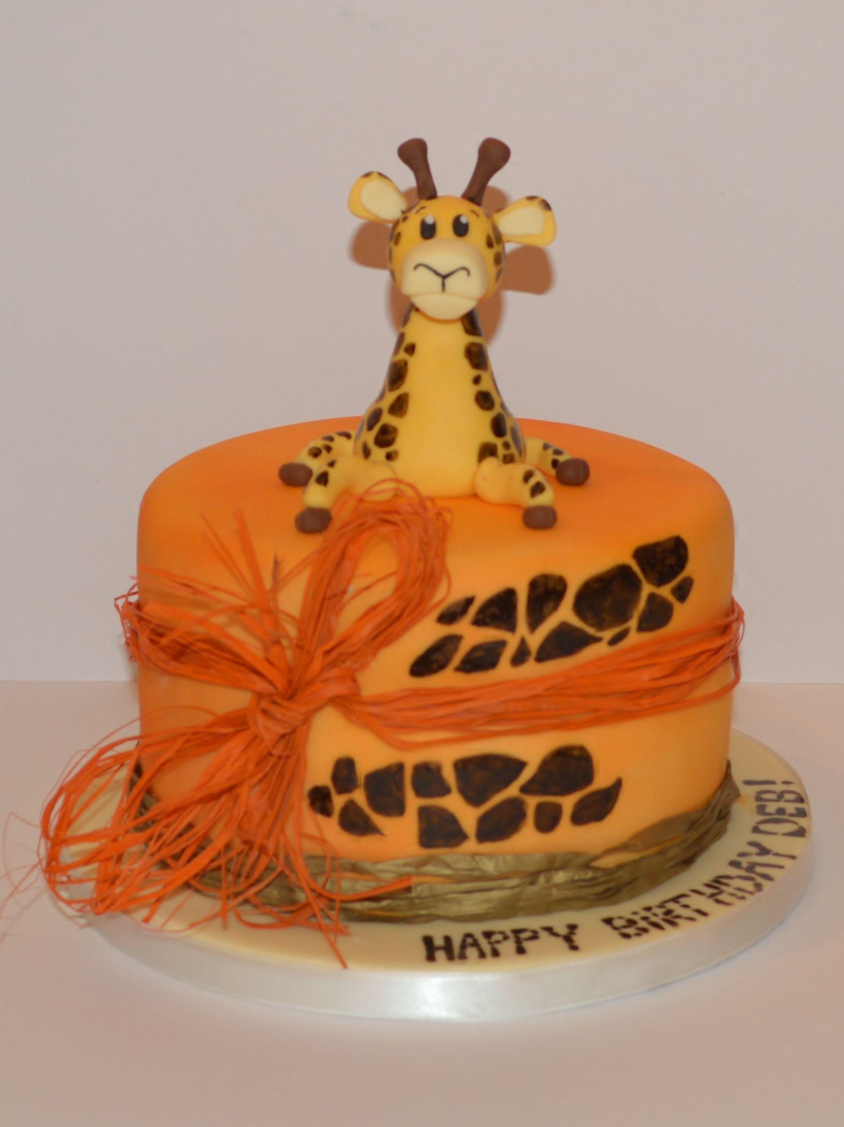 White chocolate and raspberry giraffe cake