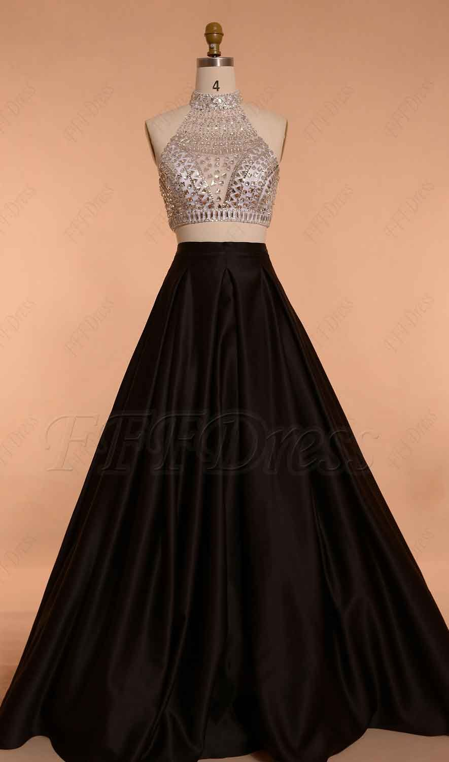 f08336b9328c9 Two Piece Ball Gown Prom Dresses