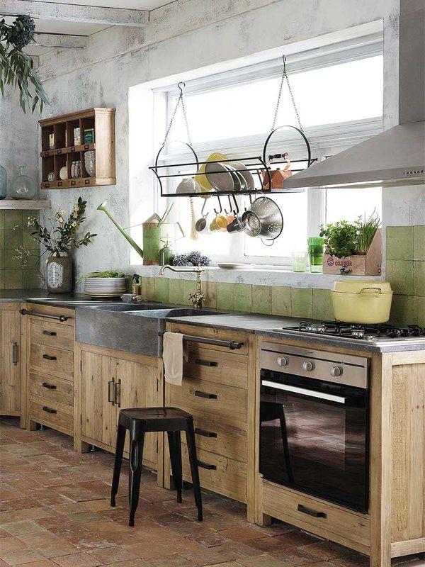 Cocinas con sabor y un delicado estilo r stico chic - Muebles cocinas rusticas ...
