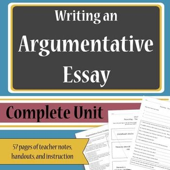 Essays For Kids In English Updated Includes New Mla Th Edition Citation Guidelines Writing An Argumentative  Essay Is An Essential Skill For Middle School And Secondary Students How To Write A Synthesis Essay also Sample Essays For High School Students Argumentative Essays  Complete Unit  Teacher Must Haves  English As A Second Language Essay
