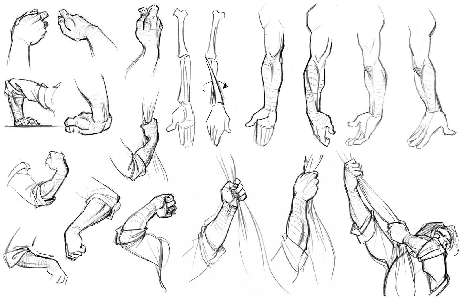 Academy of Art Character and Creature Design Notes: Hand Reference, Part Three