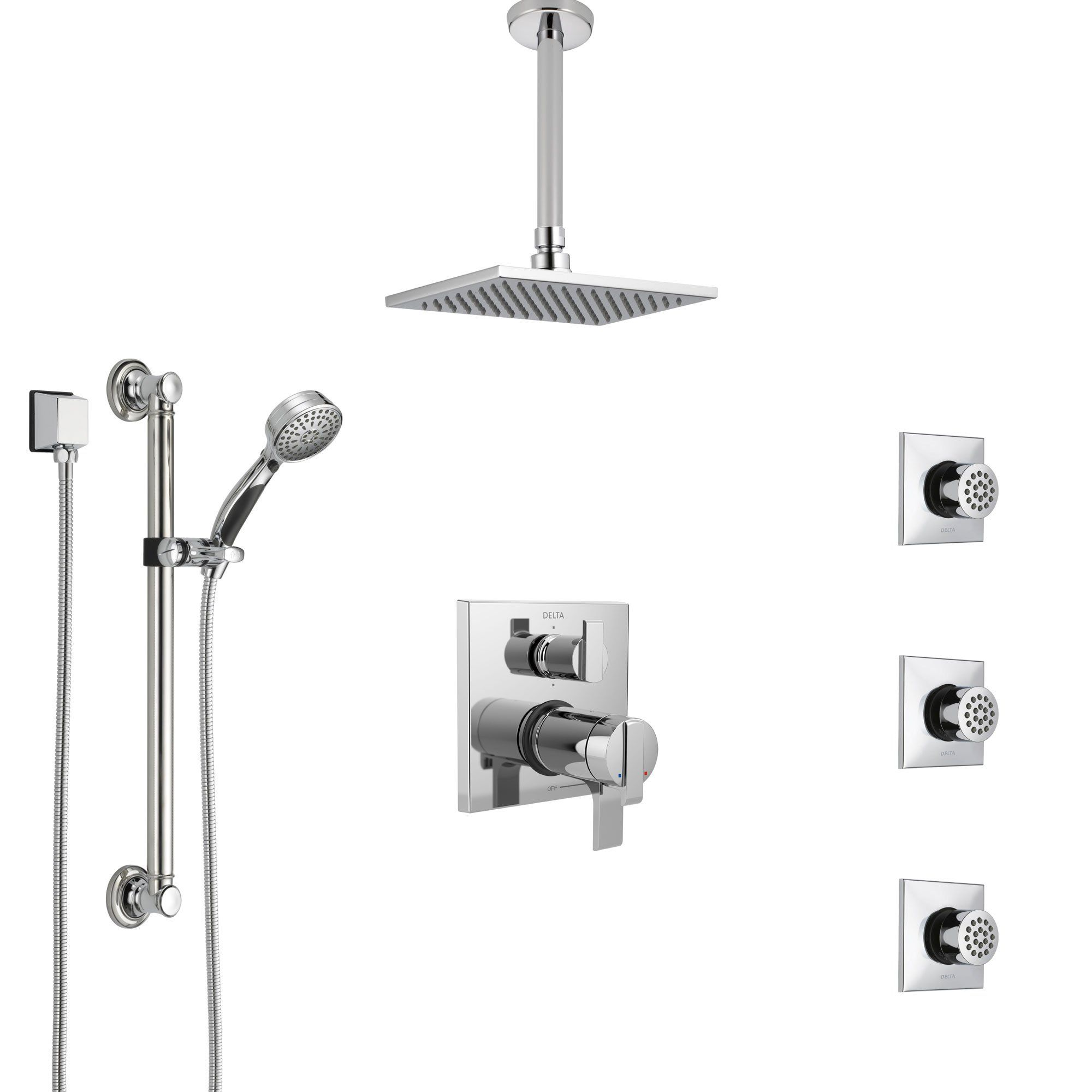 Delta Ara Chrome Dual Thermostatic Control Integrated Diverter