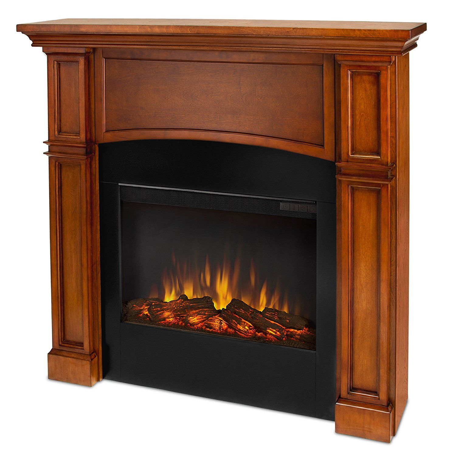 Real Flame Bradford 7600 X P Slim Line Electric Fireplace In Pecan Mantel Only Details Can Be Found By Clicking On The Image