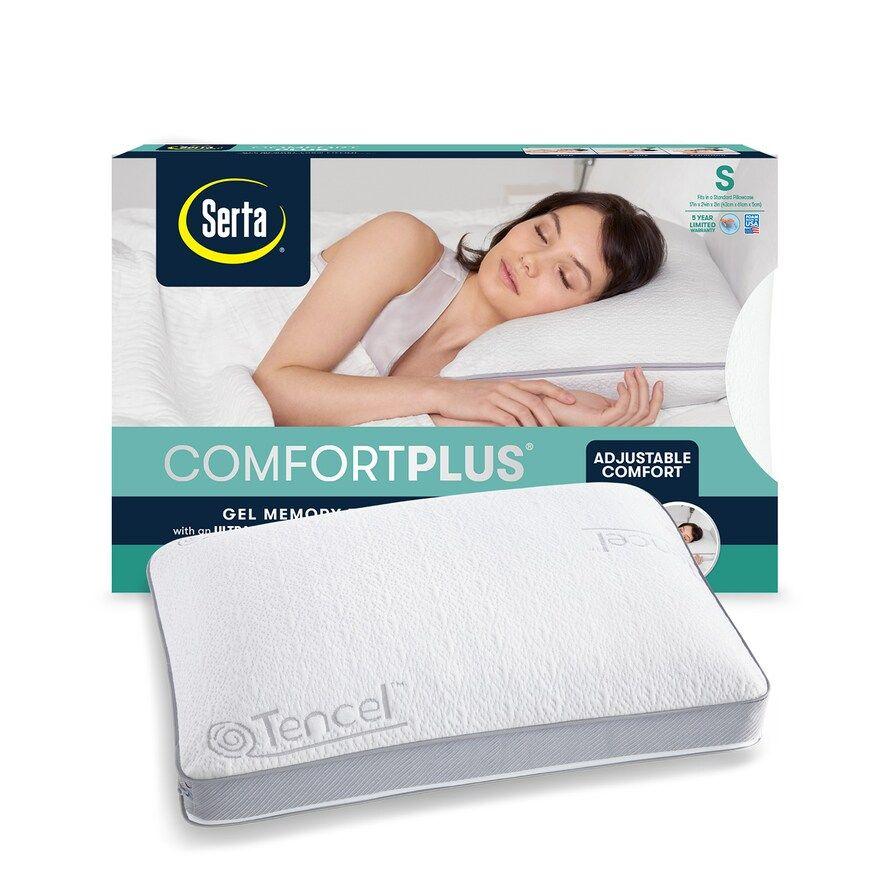 comfortplus gel memory foam pillow in