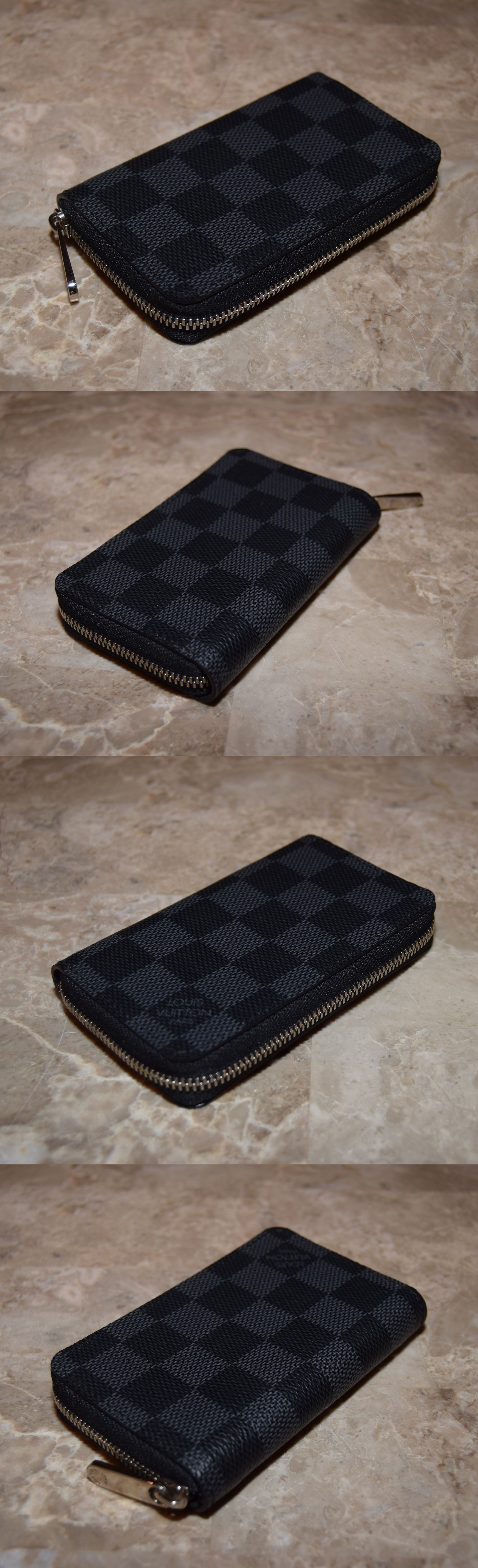 Wallets 169283  New Louis Vuitton Zippy Coin Purse Wallet Vertical Damier  Graphite Canvas N63076 -  BUY IT NOW ONLY   319 on eBay! b7c7a018c505f