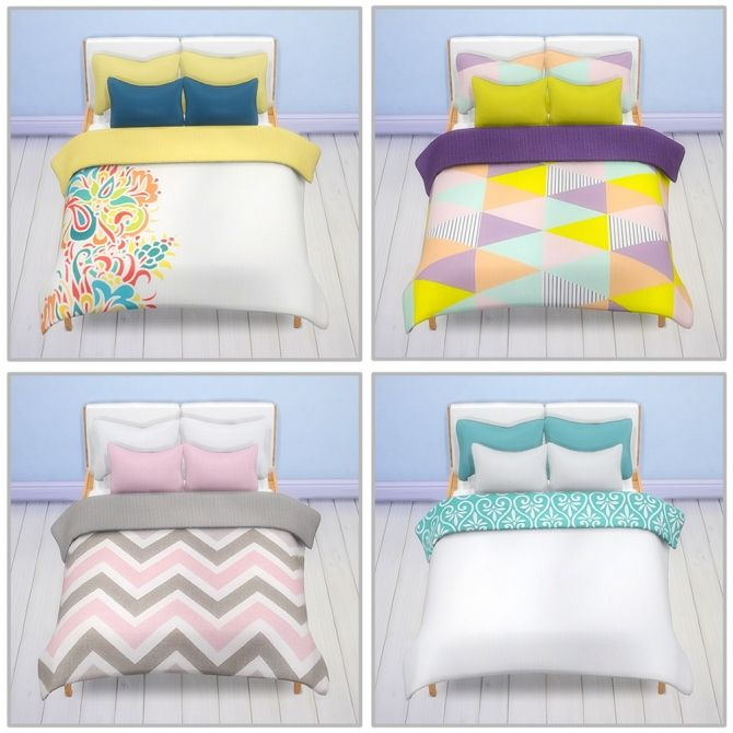 Sims 4 cc bed pinteres for Sofa bed sims 4
