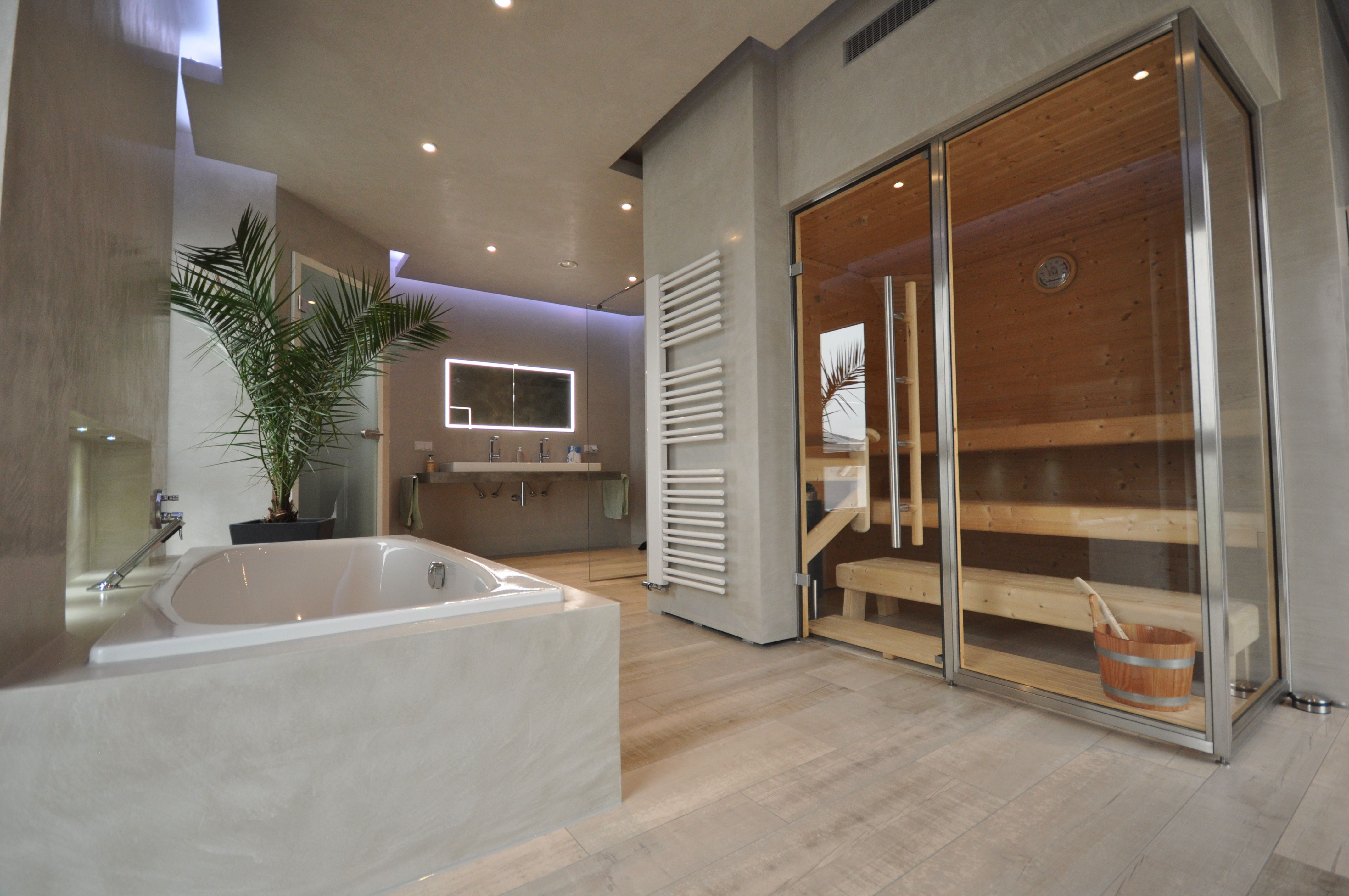 Designbad Kalk Marmor Putz Fugenlose Wandflächen In