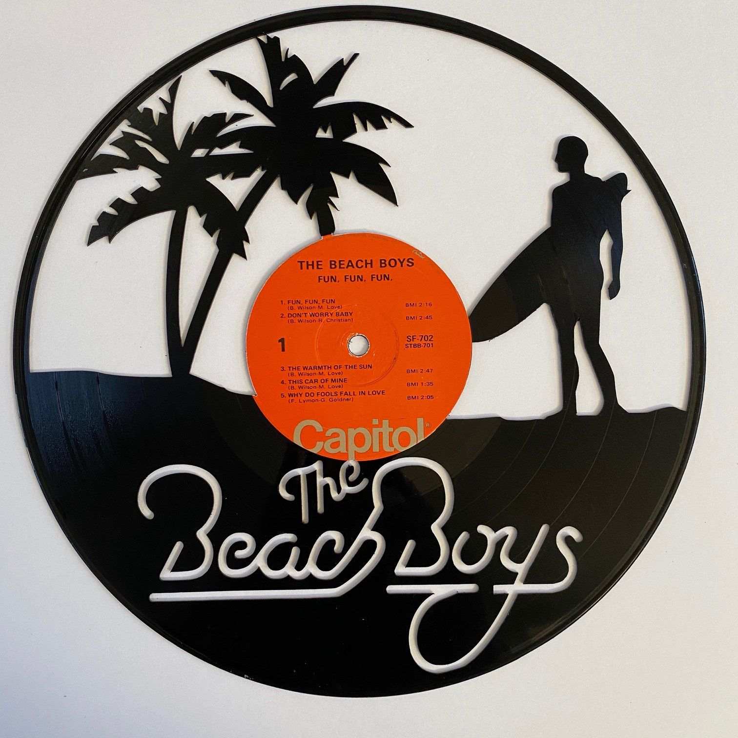 Excited To Share The Latest Addition To My Etsy Shop Beach Boys Vinyl Record Art Https Etsy Me 2ui56ej Houseware In 2020 Vinyl Record Art Record Art Vinyl Records