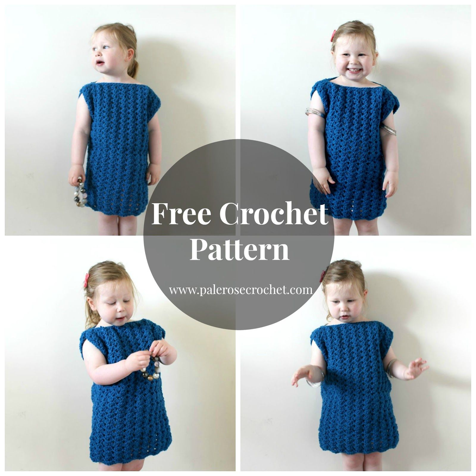 Free Crochet Pattern - Toddler Play Day Dress | Pale Rose Crochet ...