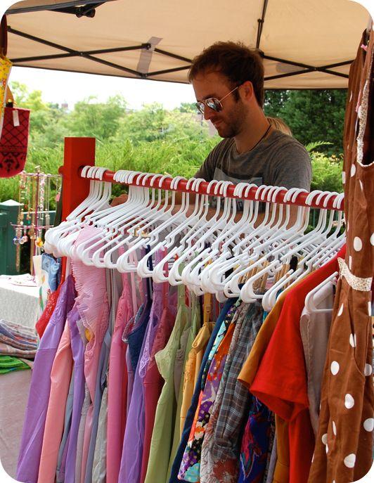 Diy Portable Clothing Rack Great For Flea Market Or Yard