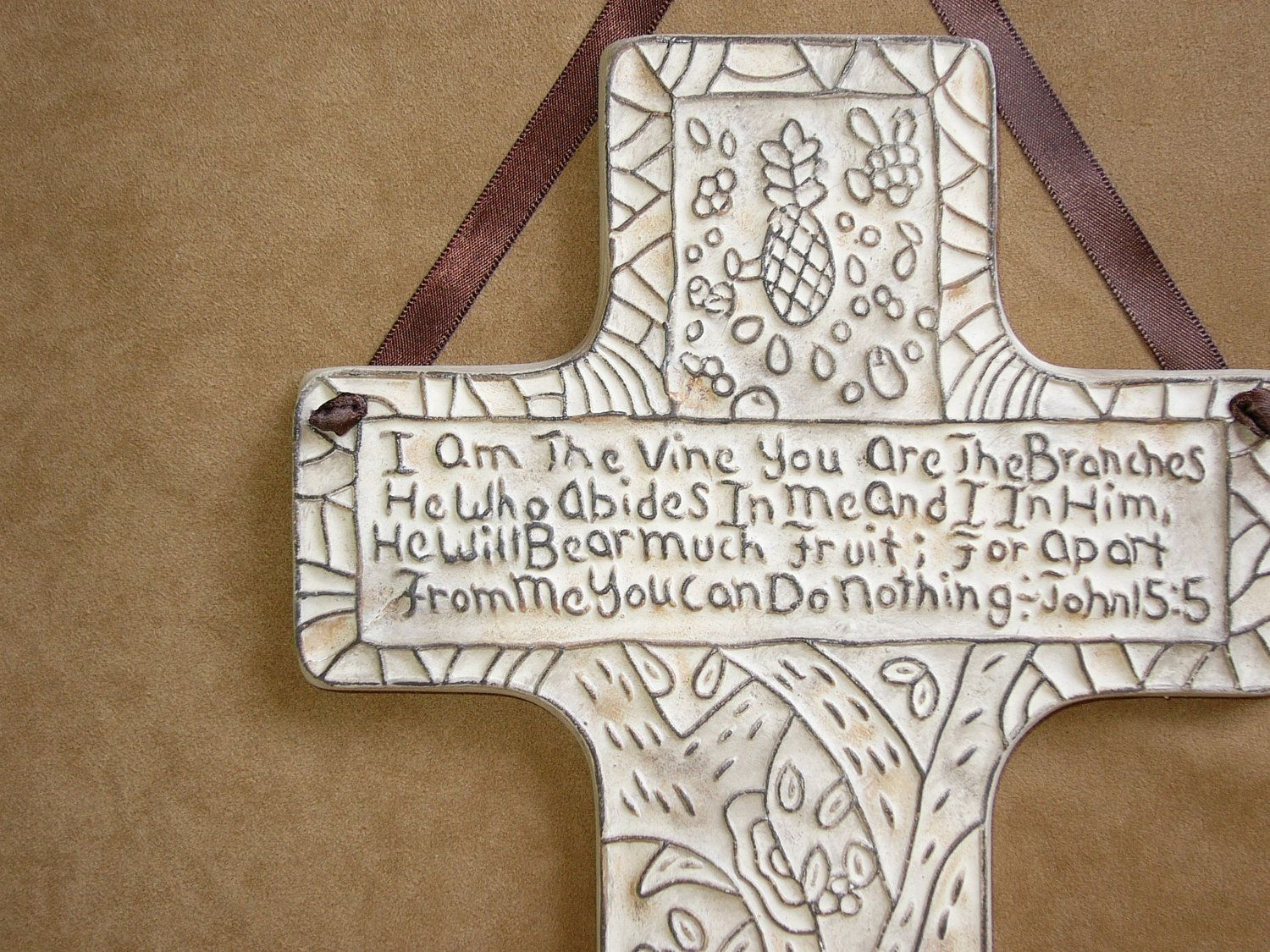 Hanging Crosses Ceramic Wall Hanging Cross I Am The