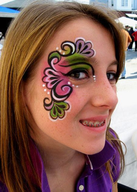 30 Awesome Face Painting Tattoo Designs For Female Eye Face