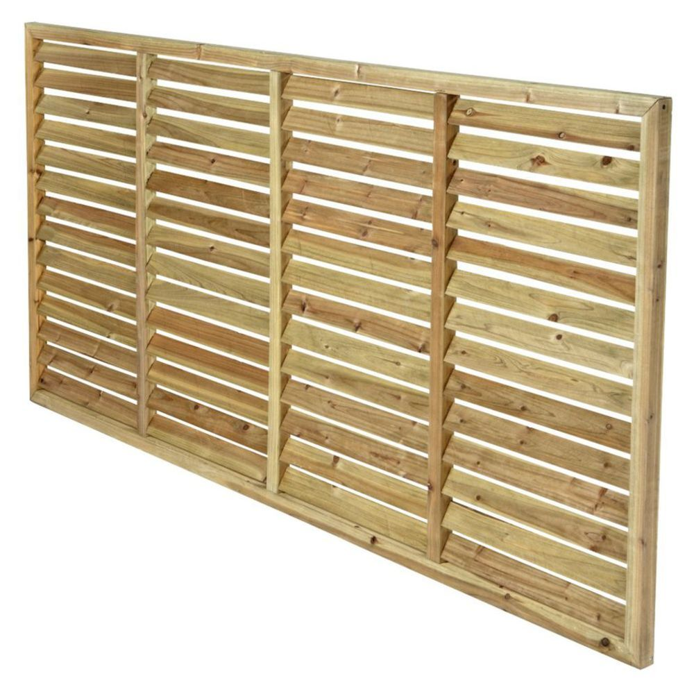 timber acq treated pine horizontal louvre screen 180cm wide 90cm