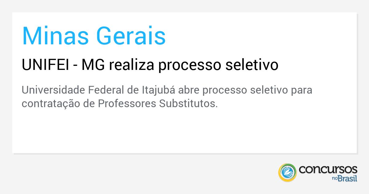 UNIFEI - MG realiza processo seletivo - http://anoticiadodia.com/unifei-mg-realiza-processo-seletivo/