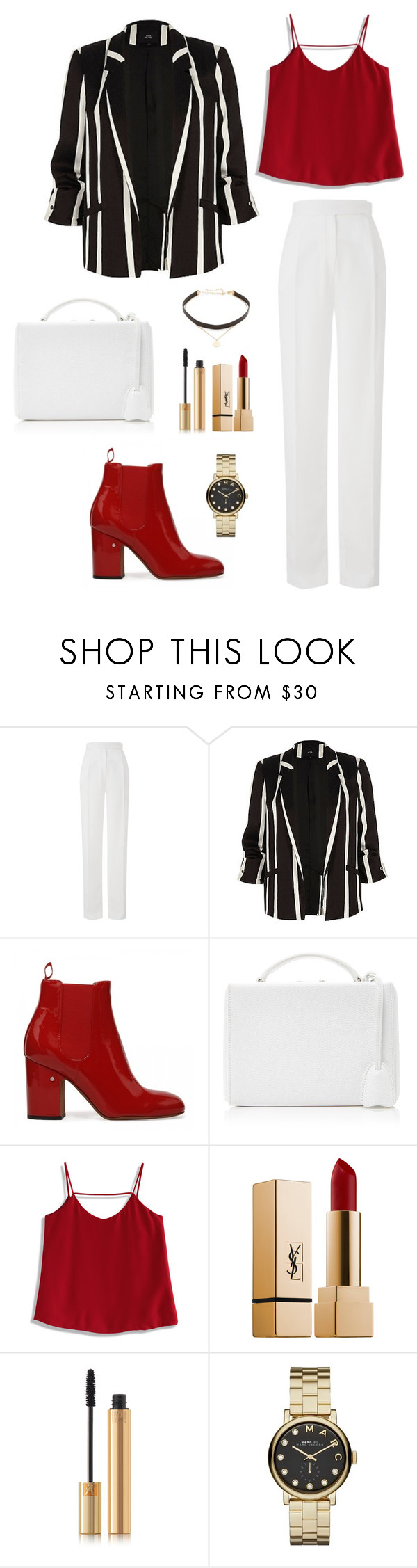 """Untitled #314"" by bajka2468 on Polyvore featuring Amanda Wakeley, Mark Cross, Chicwish, Yves Saint Laurent, Marc by Marc Jacobs and Jennifer Zeuner"