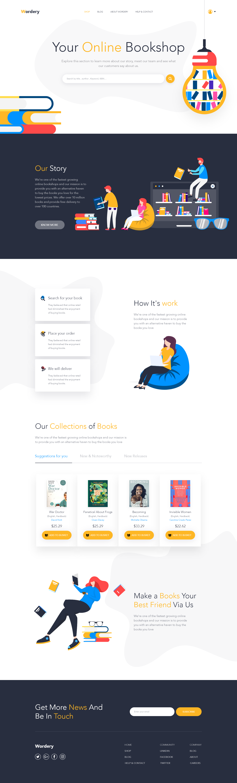 Online Book Shop Landing Page Best Landing Page Design Web Design Clean Web Design