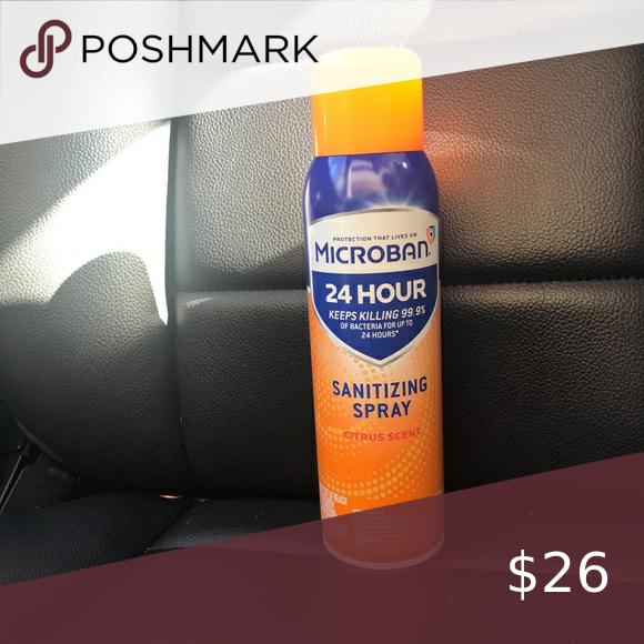 Microban 24 Hour Disinfectant Sanitizing Spray Citrus Scent 15 Fl Oz Targe Microban 24 Hour Disinfectant Sanitizing Spray En 2020 Desinfectant Spray Parfum