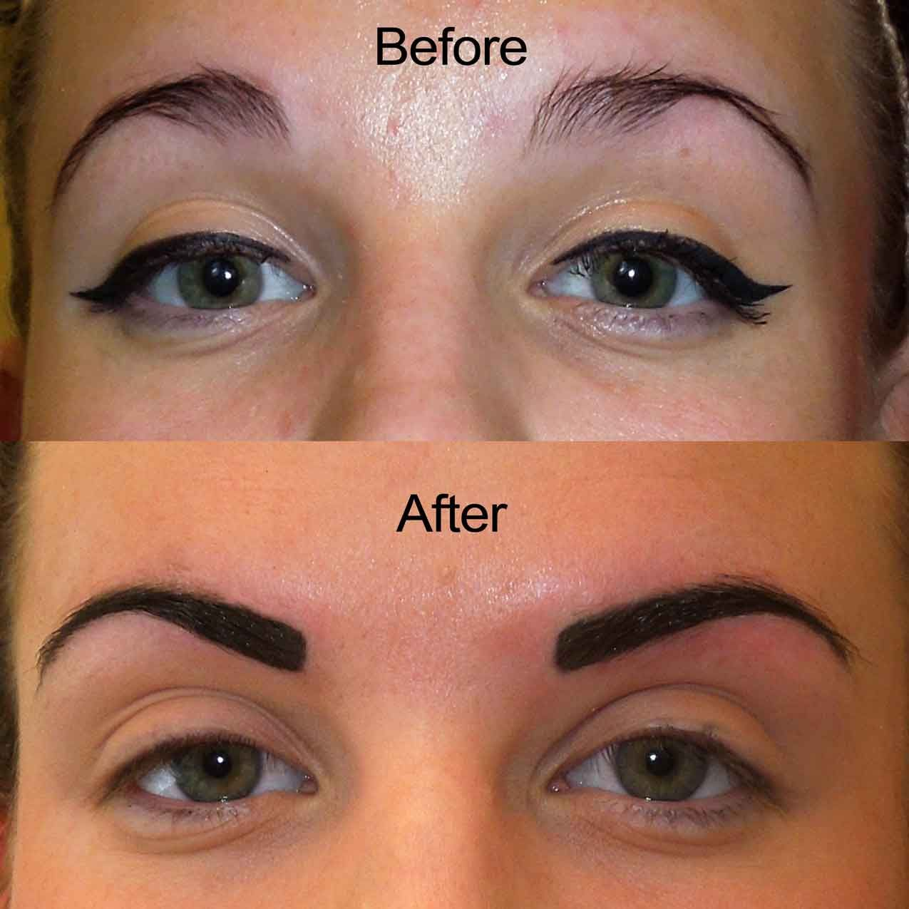 The ultimate guide to tattoo eyebrows what exactly are for Powder eyebrow tattoo