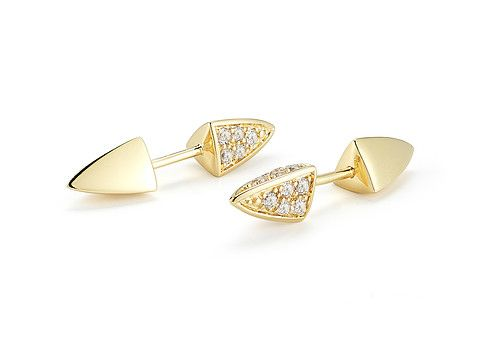 Elizabeth and James Bauhaus Vogel Pave Earring White Topaz