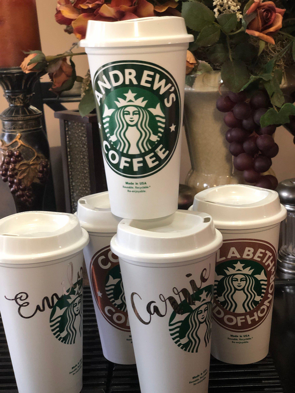 Personalized 16oz Starbucks Cup BPA FREE reusable tumbler