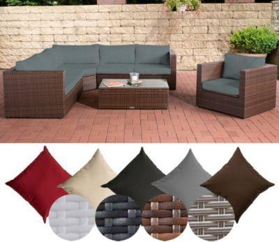 Poly-Rattan Lounge Set TIBERA, mit XXL Stauraum (2 x 2er Sofa +