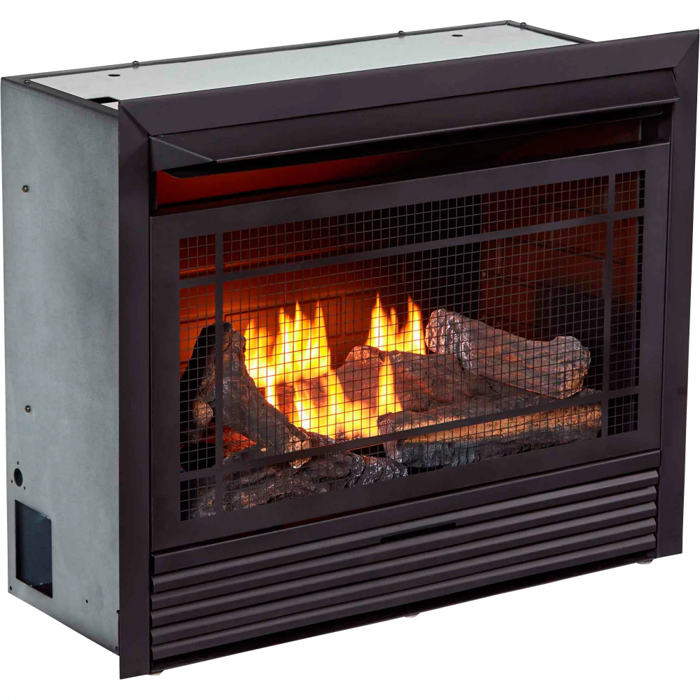 Bluegrass Living Vent Free Dual Fuel Fireplace Insert 26 000 Btu Black Model Fdf300rt Fireplace Inserts Gas Fireplace Pellet Fireplace